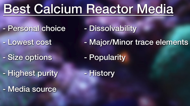 Best Calcium Reactor Media