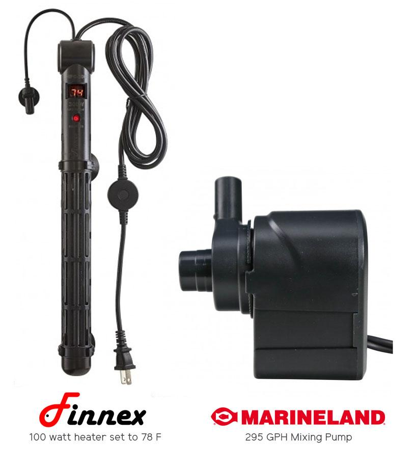 Finnex Heater and Maxi-Jet Pump