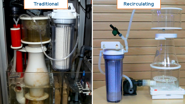 Traditional vs Recirculating CO2 scrubber installation