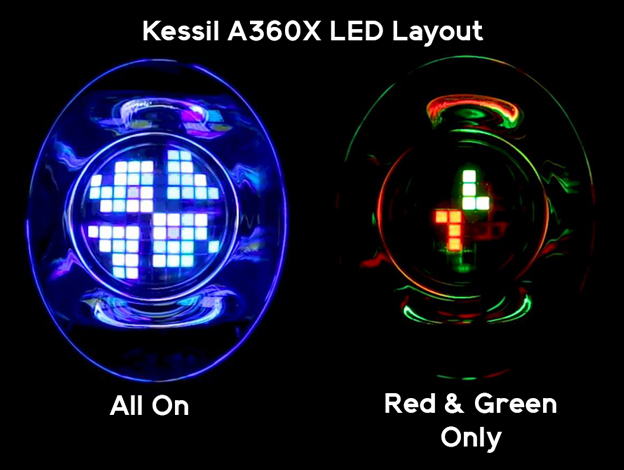 Kessil A360X LED layout