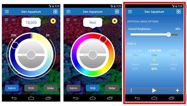 EcoSmart Live APP with color and intensity controls