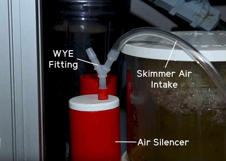 Protein Skimmer Air Intake with WYE Fitting