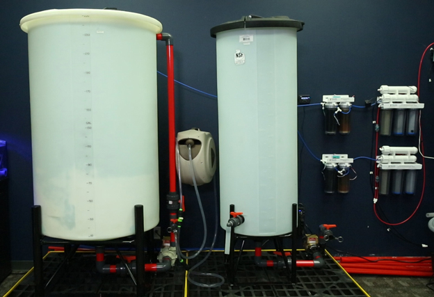 Saltwater mixing station