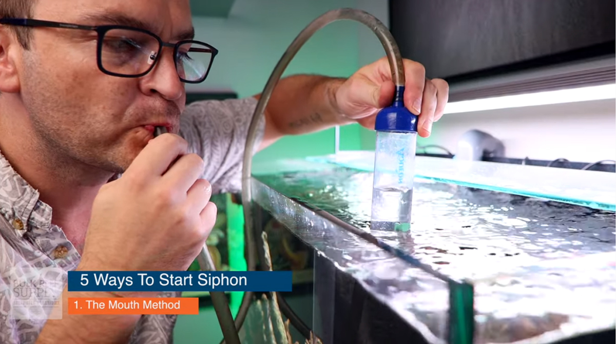 Mouth method siphon