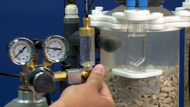 Manual adjustment of bubble count using a CO2 regulator