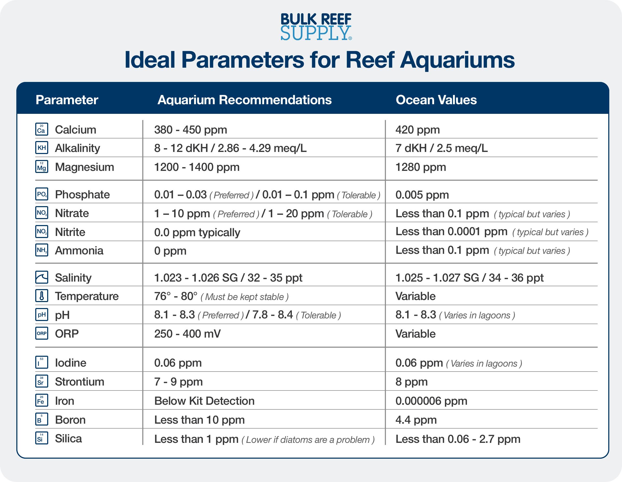 Reef Tank Water Parameters