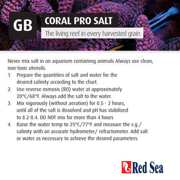 Red Sea Coral Pro Instructions
