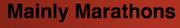 Mainly Marathons Dust Bowl Series