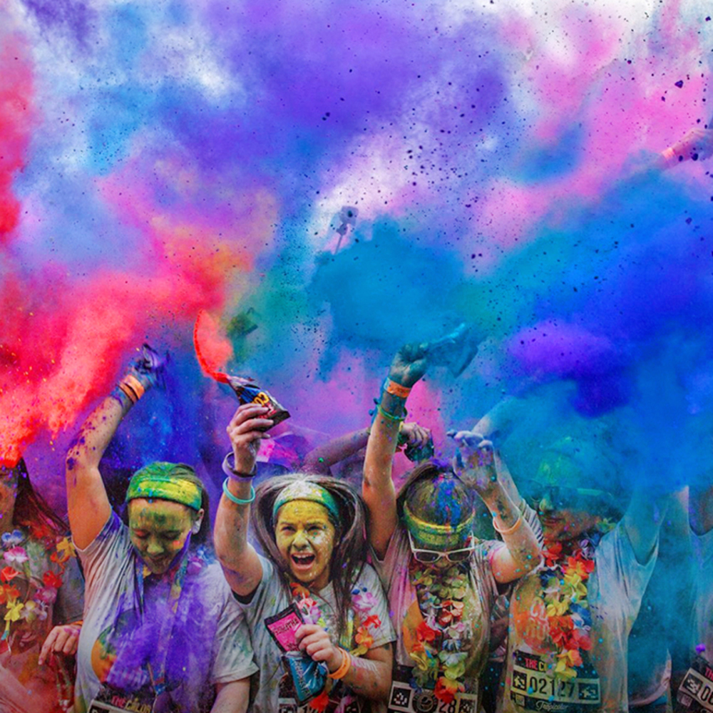 "The Color Run was founded in January of as an event to promote healthiness and happiness by bringing the community together to participate in the ""Happiest 5k on the Planet""."