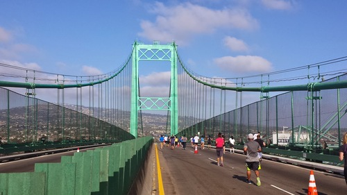 Labor Day run over the Vincent Thomas Bridge