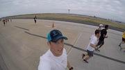 Thumb on the runway