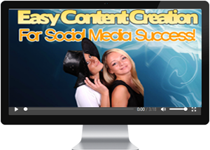 Easy content creation for social media