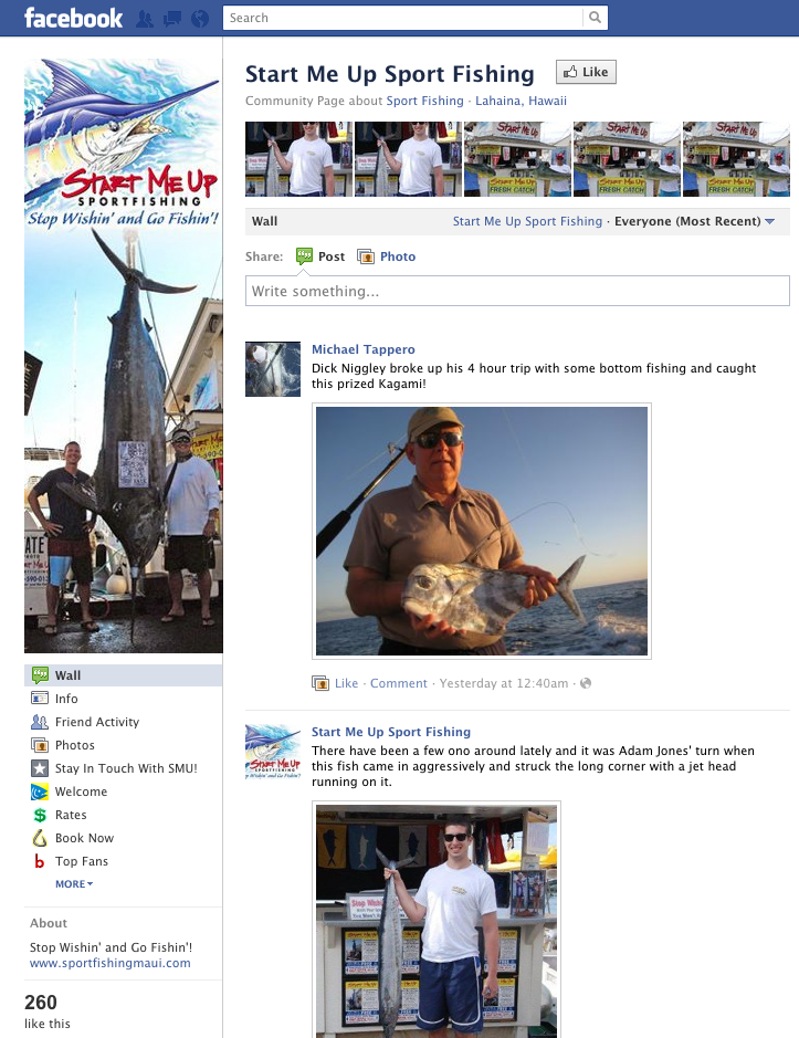 17 impressive small business facebook pages you can learn from for Start me up fishing