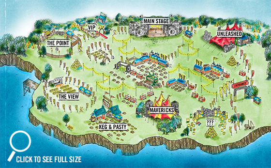 Boardmasters 2014 Fun Map Watergate Bay
