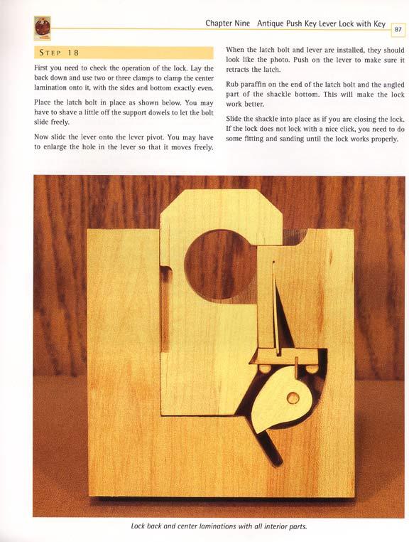 Make Working Wooden Lock Plan Wood Craft Diy Band Saw Ebay