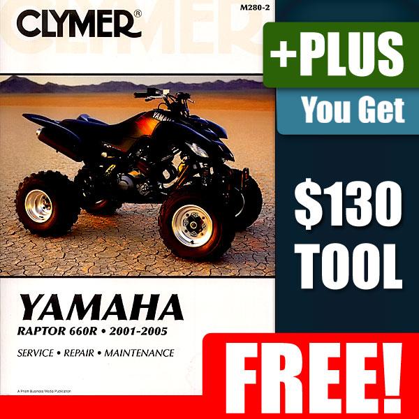 Yamaha Raptor 660 ATV Service Parts Repair Manual 01 05