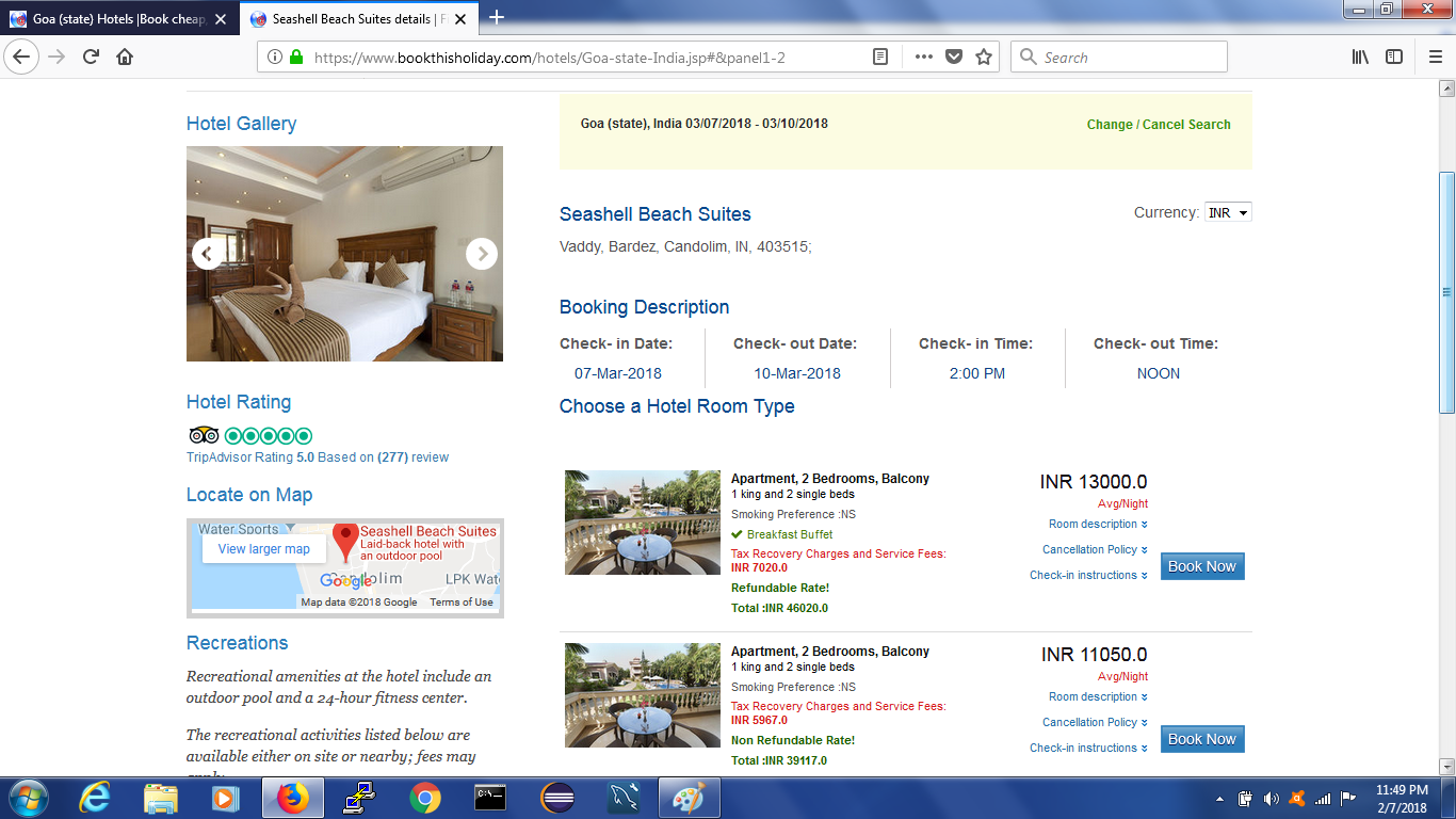 Book a Hotel Accommodation online and ensure a wonderful holidaying