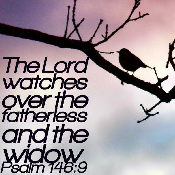 The Lord watches over the fatherless and the widow. - Psalm 146:9 ...