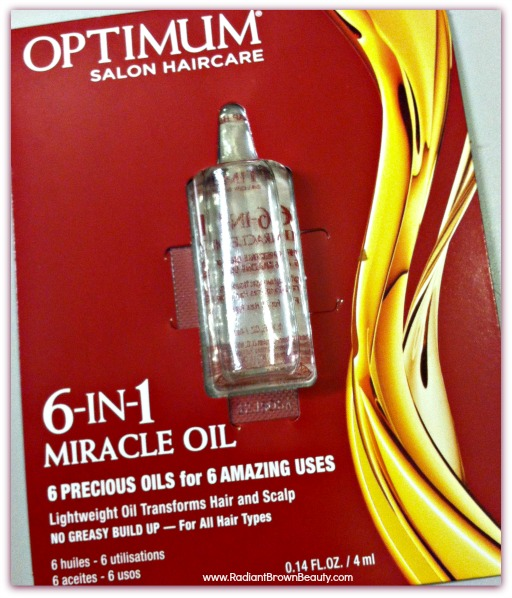 optimum salon hair care 6 in 1 miracle oil