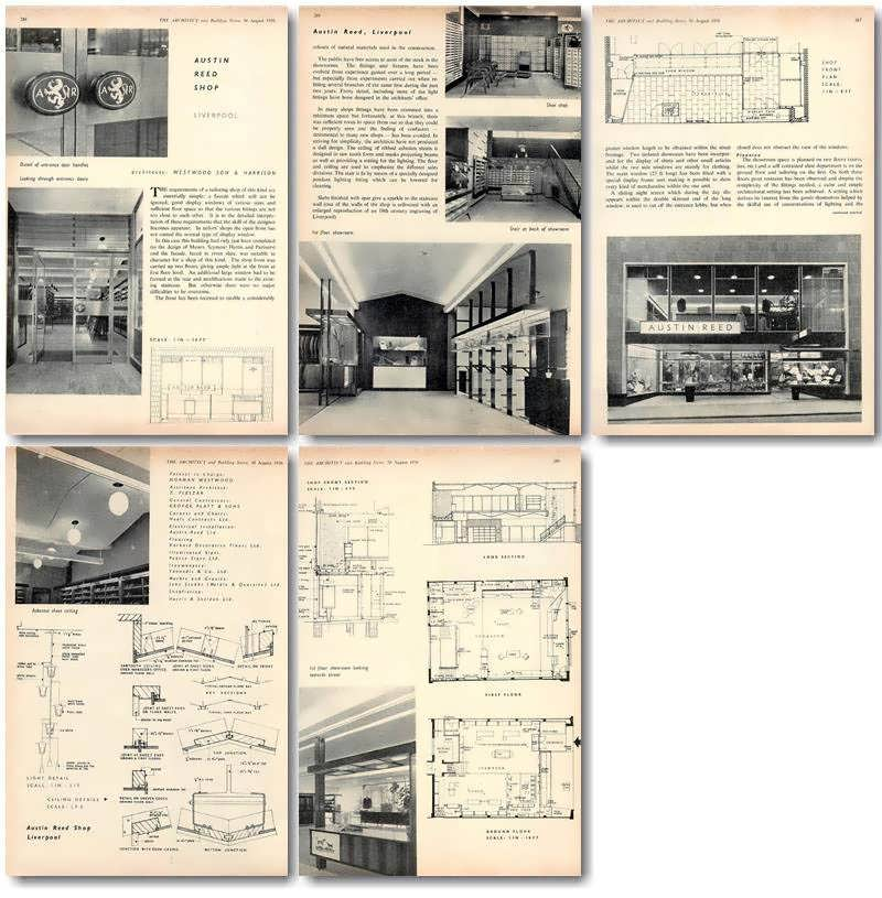1956 Austin Reed Shop In Liverpool Design Plans Ebay