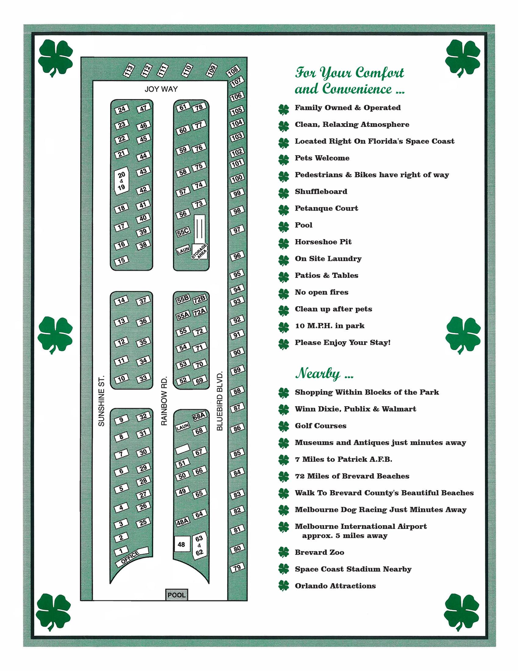 Swell Lucky Clover Rv Mobile Home Park Interior Design Ideas Grebswwsoteloinfo