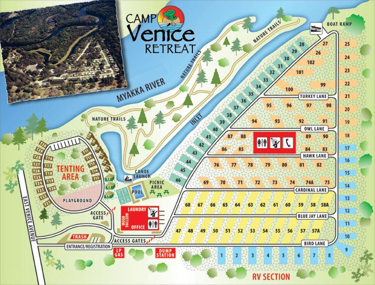 Map Venice Florida.Campvenice Retreat