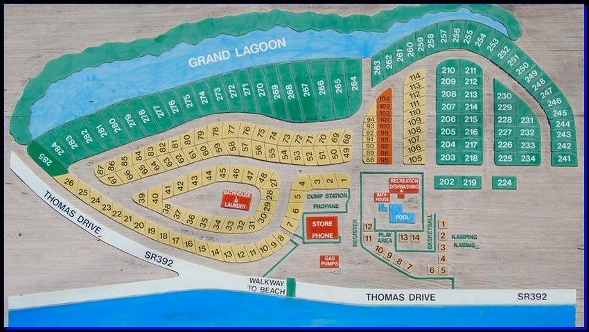 Panama City Beach Map Of Florida.Camper S Inn Inc