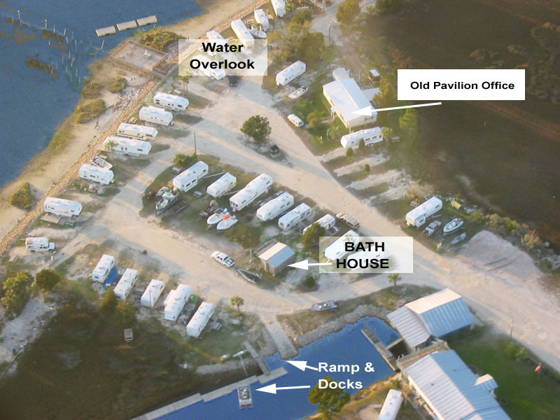 florida map showing rv parks