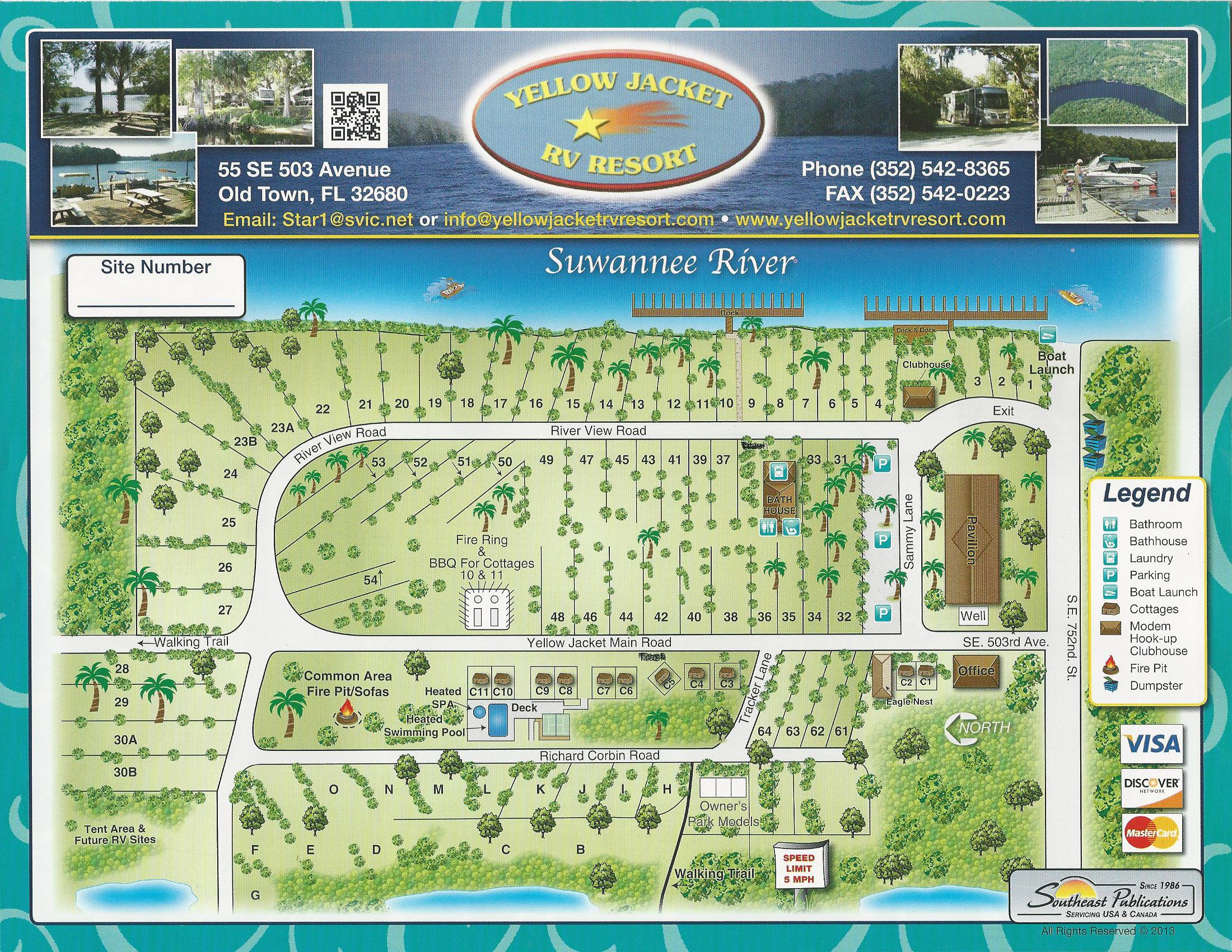 Old Town Florida Map.Yellow Jacket Rv Resort