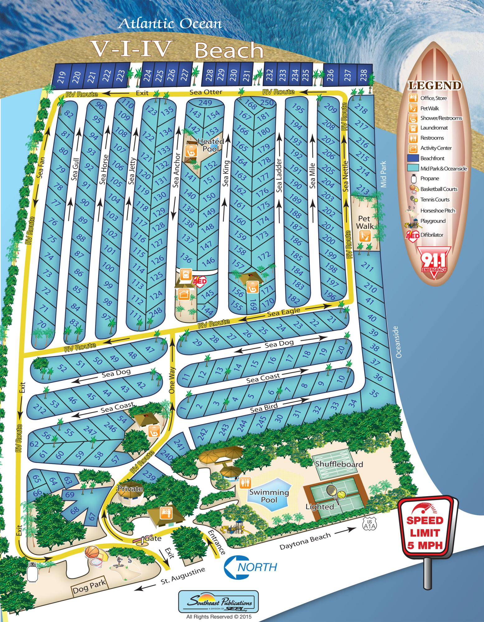Map Of St Augustine Florida.Bryn Mawr Ocean Resort