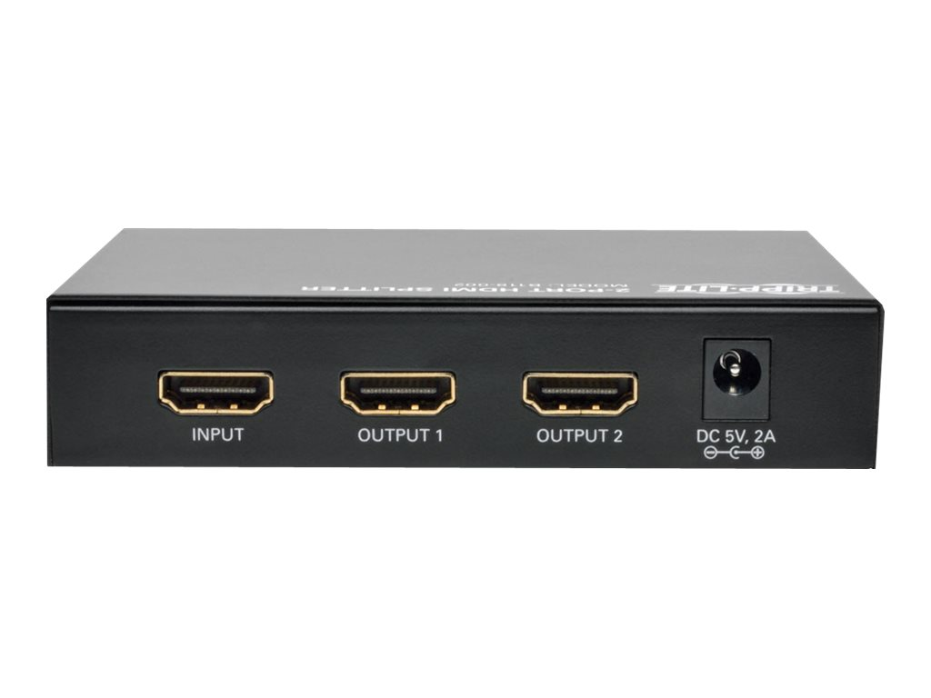 Tripp Lite 2 Port Hdmi Video Splitter High Speed 1080p Bits Datas Circuit For Audio Resolution Hdcp Ports