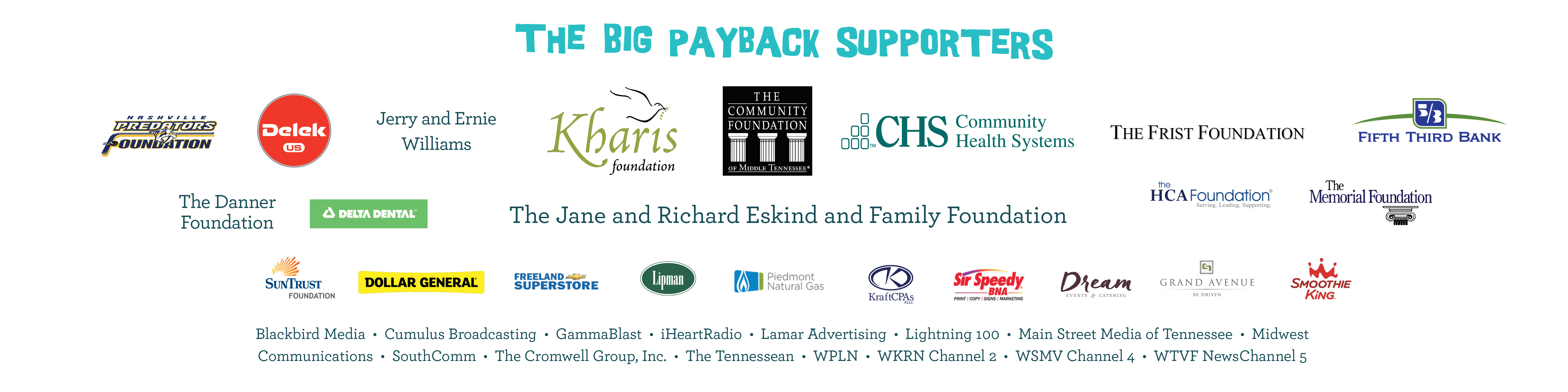 2018 Sponsors of The BigPayback