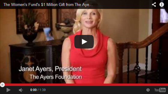 The Women's Fund receives $1 Million Gift from The Ayers Foundation