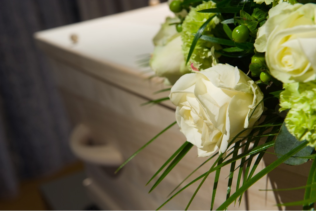 Memorial service at a funeral home in Des Plaines, Illinois
