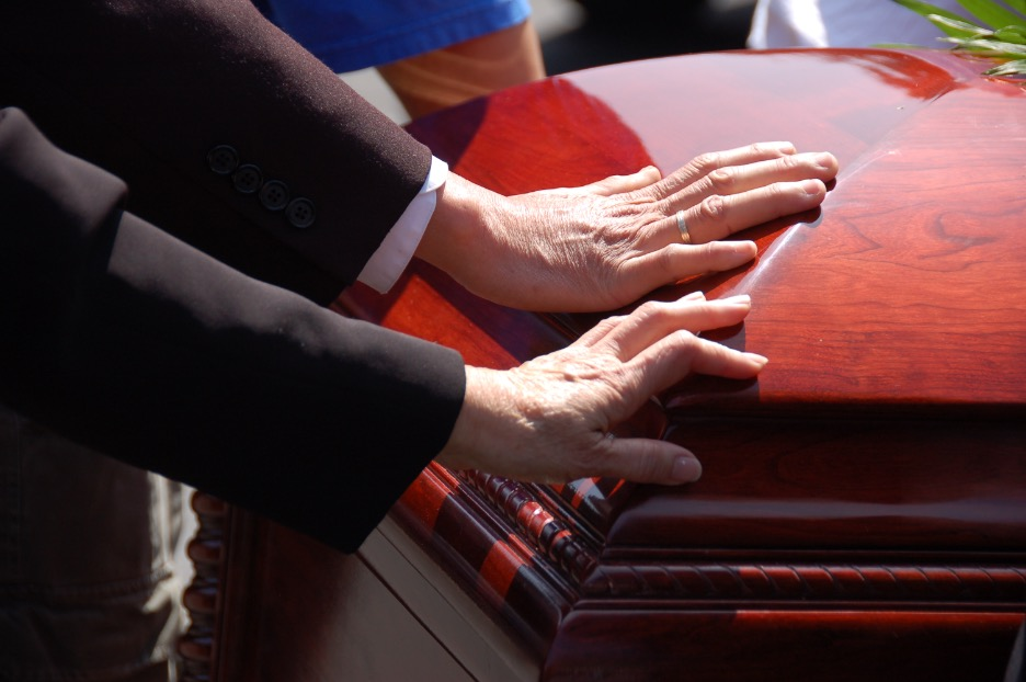 Funeral service at a funeral home in Jefferson Park, Chicago