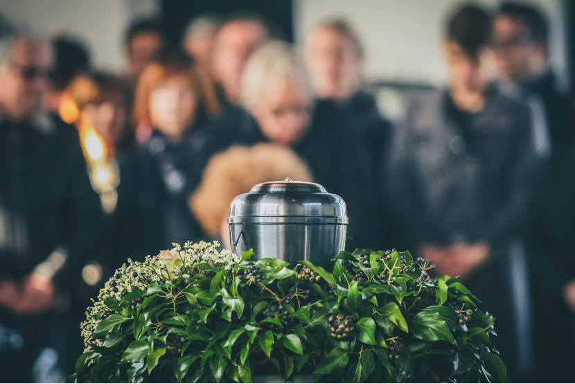 Cremation funeral service at a funeral home in Norwood Park, Illinois