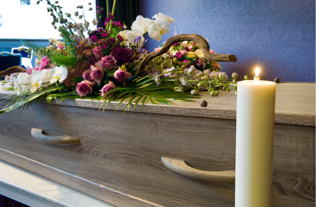 Memorial service at a funeral home in Niles, Illinois