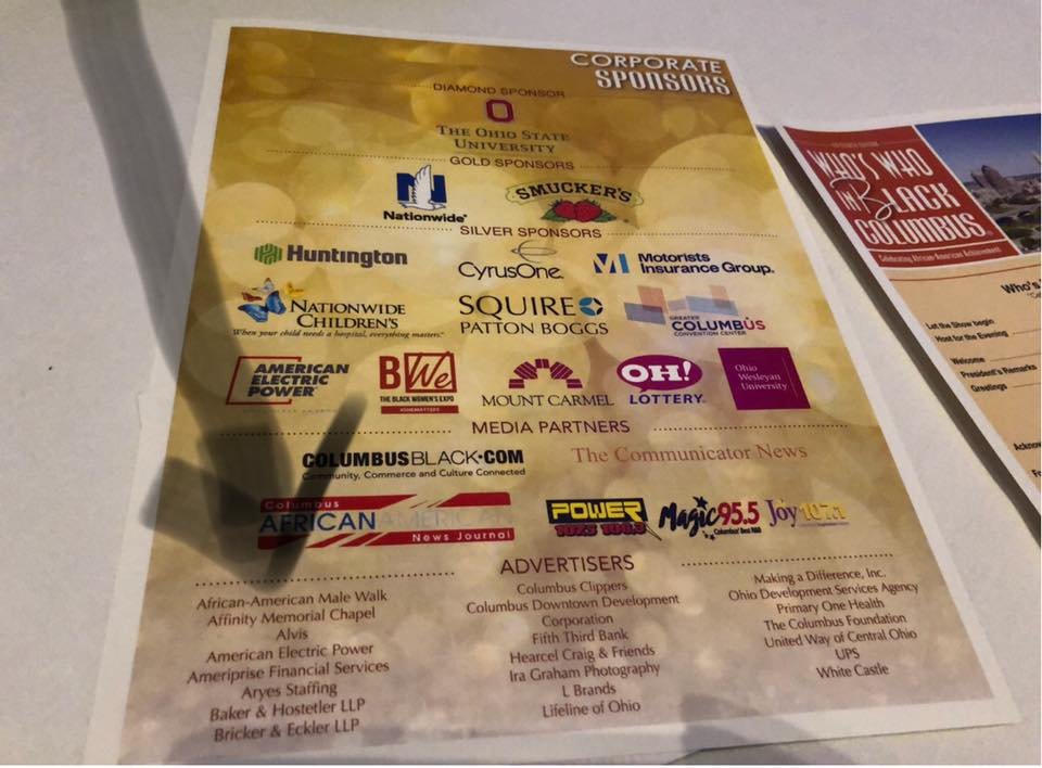 Proud to be a Sponsor in Who's Who in Black Columbus 2018