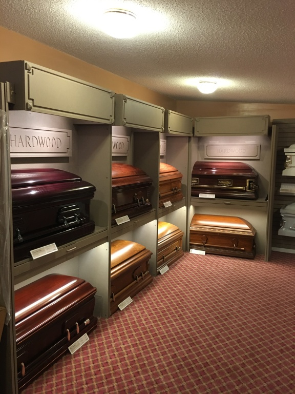 Casket Selection Room Hardwood Caskets
