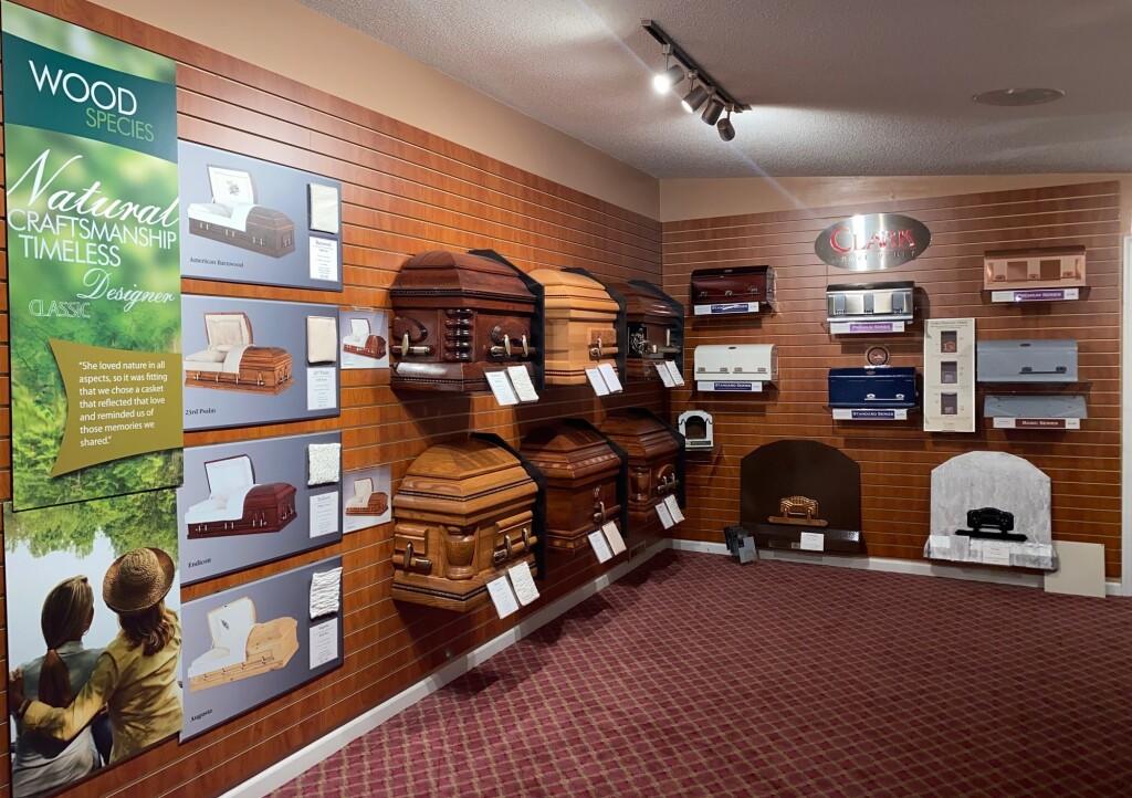 Hardwood Caskets/Metal Vault Selections