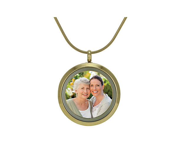 Photo Round Pendant-Bronze (J5013) $135