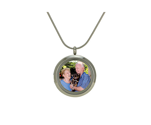 Photo Round Pendant-Pewter (J5053) $135