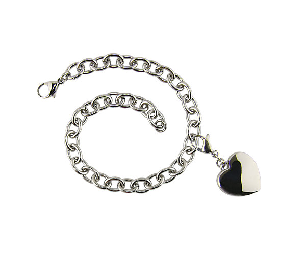 Charm Bracelet with Heart Charm (J9500) $130
