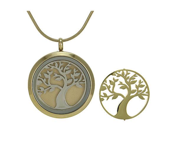Tree Round Pendant-Bronze (J5031) $135