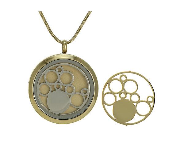 Circles Round Pendant-Bronze (J5035) $135