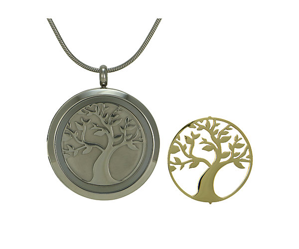 Tree Round Pendant-Pewter (J5071) $135