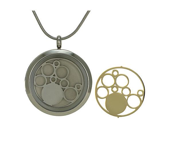 Circles Round Pendant-Pewter (J5075) $135