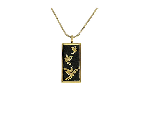 Embossed Doves Bronze (J5114) $135