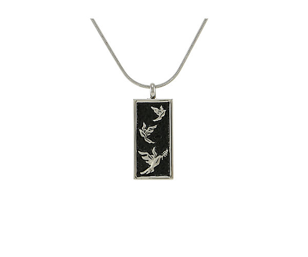 Embossed Doves Pewter (J5115) $135
