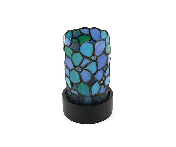 LED Blue Floral Lamp Keepsake (C631K) $198